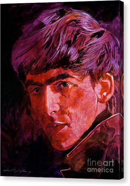 George Harrison Canvas Print - George Harrison by David Lloyd Glover