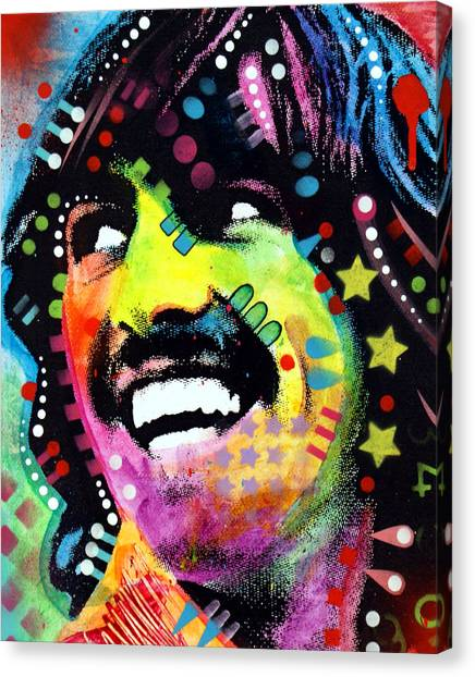 Ringo Starr Canvas Print - George Harrison by Dean Russo Art