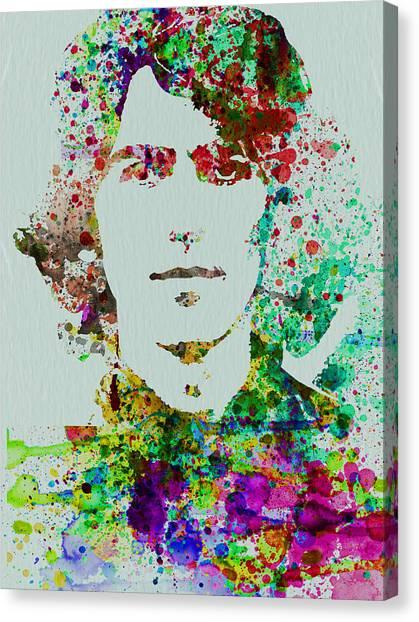 John Lennon Canvas Print - George Harrison by Naxart Studio