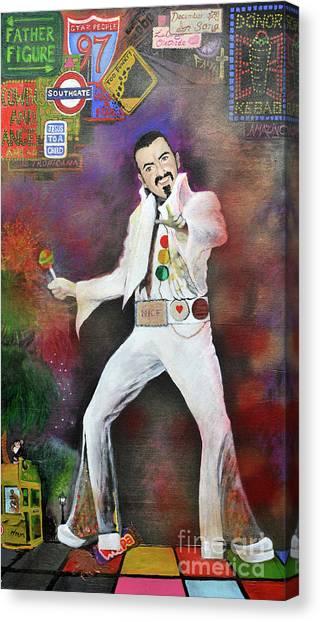 George Michael Gentlemen And Ladies Canvas Print