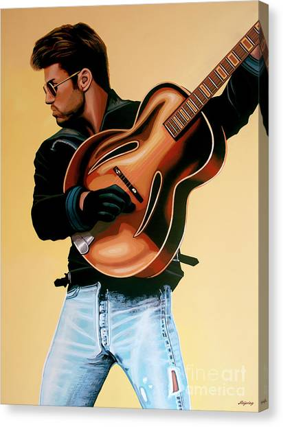 Heaven Canvas Print - George Michael Painting by Paul Meijering