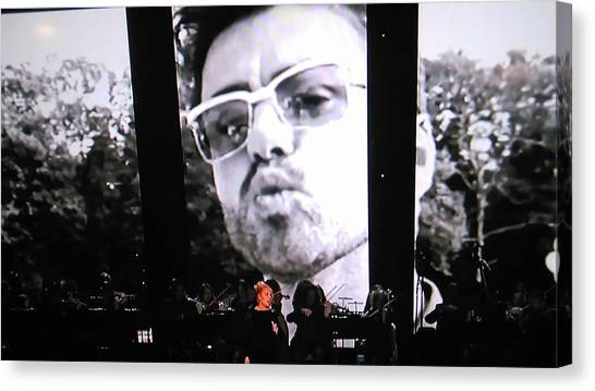 Adele Canvas Print - George Michael Sends A Kiss by Toni Hopper