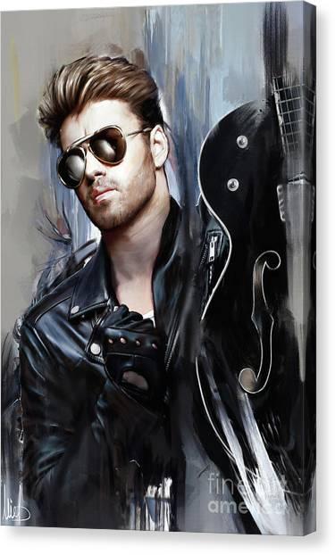 Elton John Canvas Print - George Michael Singer by Melanie D