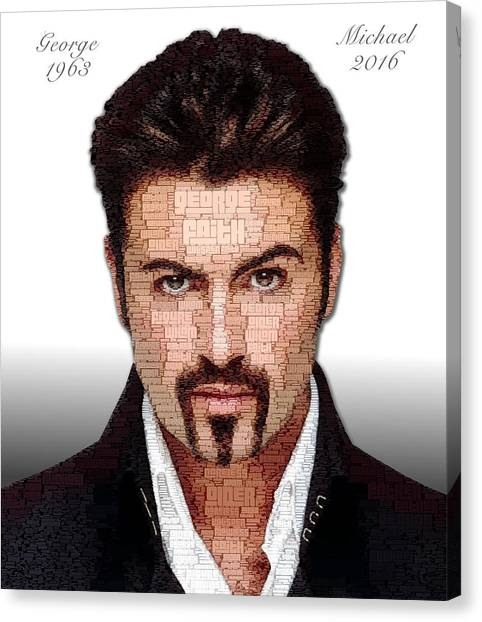 Canvas Print featuring the digital art George Michael Tribute by ISAW Company