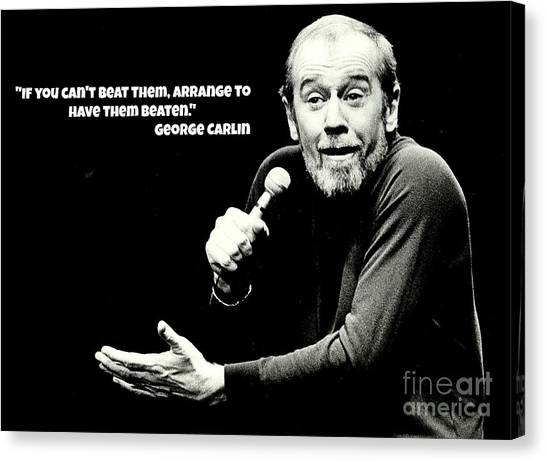 Johnny Carson Canvas Print - George by Pd George