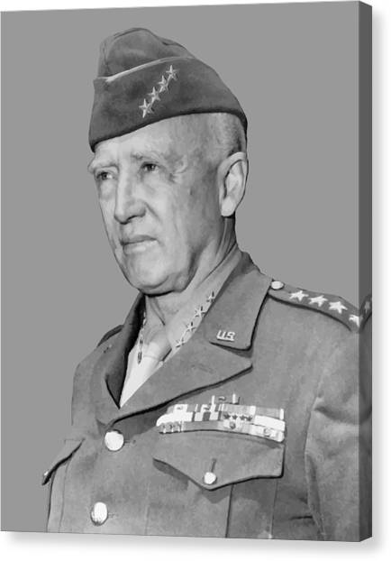 Ww1 Canvas Print - George S. Patton by War Is Hell Store