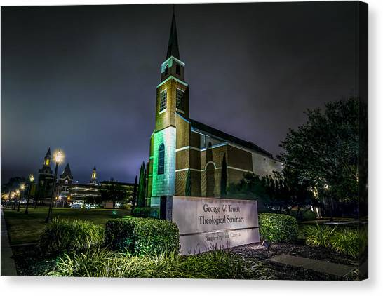 Temple University Canvas Print - George W Truett Seminary At Baylor University by David Morefield