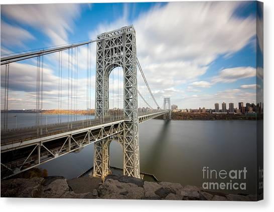 George Washington Canvas Print - George Washington Bridge by Greg Gard