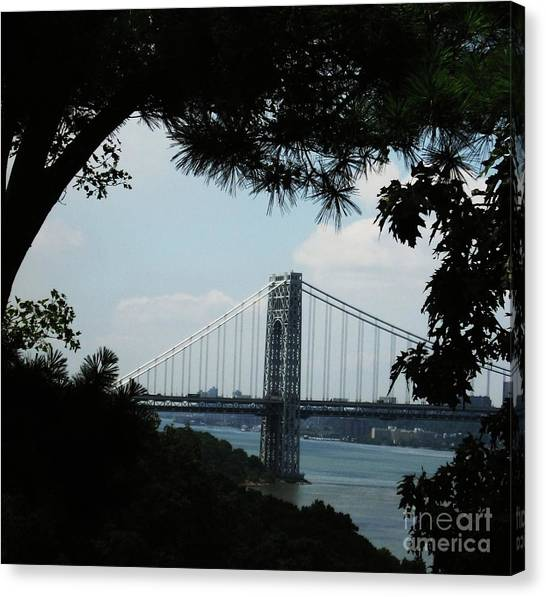George Washington Bridge Canvas Print by Maria Scarfone