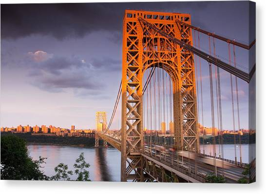 George Washington Canvas Print - George Washington Bridge by Mariel Mcmeeking