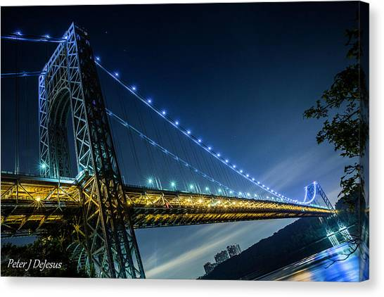 George Washington Canvas Print - George Washington Bridge Span by Peter J DeJesus