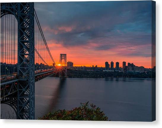 George Washington Canvas Print - George Washington Bridge by Super Lovely