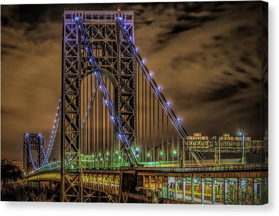 Canvas Print featuring the photograph George Washington Bridge by Theodore Jones