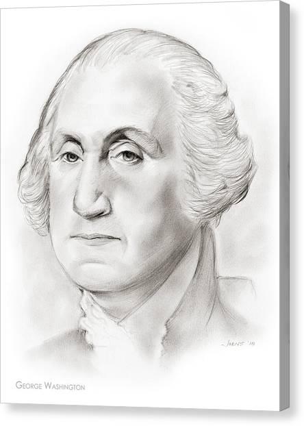 George Washington Canvas Print - George Washington by Greg Joens