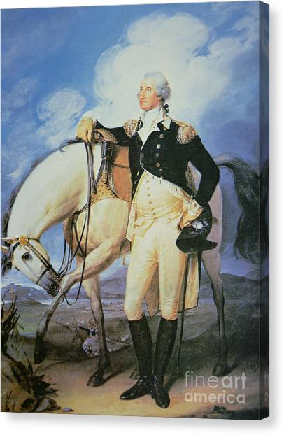 Draft Horses Canvas Print - George Washington by John Trumbull