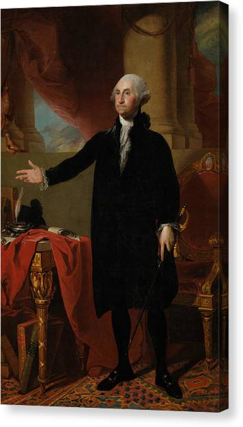 President Canvas Print - George Washington Lansdowne Portrait by War Is Hell Store