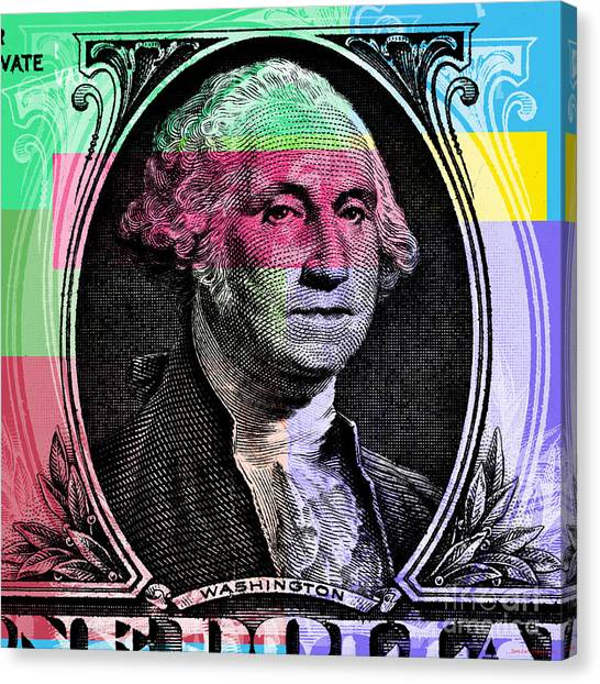 George Washington Pop Art Canvas Print
