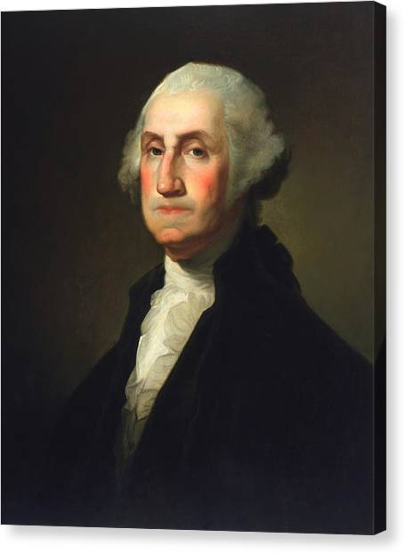 Rembrandt Canvas Print - George Washington - Rembrandt Peale by War Is Hell Store
