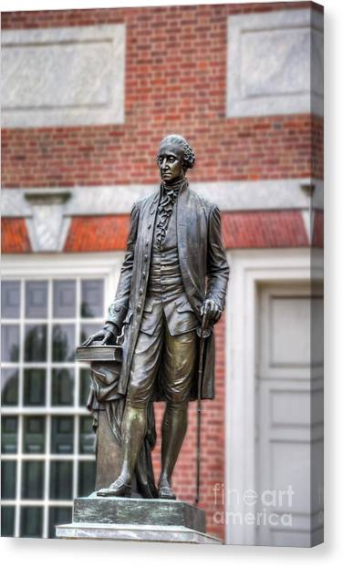 George Washington Statue Canvas Print