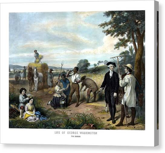 George Washington Canvas Print - George Washington The Farmer by War Is Hell Store