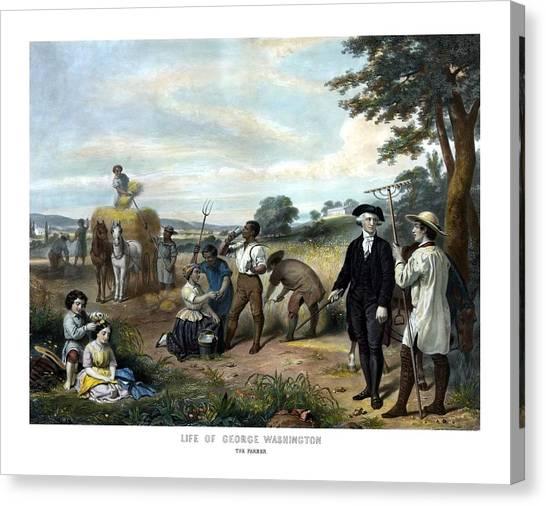 George Washington Canvas Print - George Washington The Farmer by War Is Hell Store