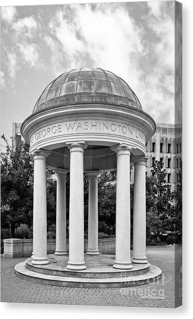 George Washington University Gwu Canvas Print - George Washington University Kogan Plaza by University Icons