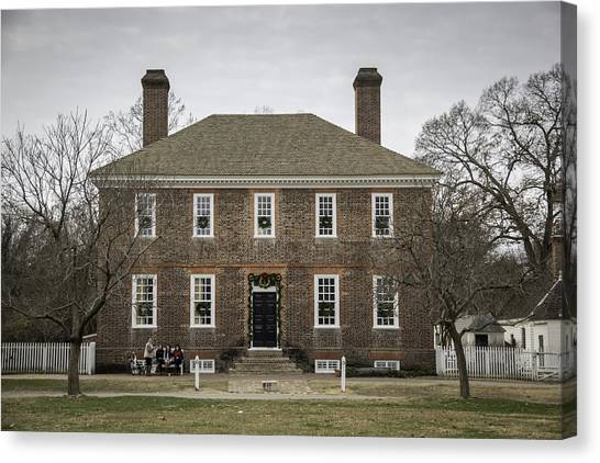 Royal Colony Canvas Print - George Wythe House Williamsburg 2014 by Teresa Mucha