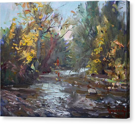 Ontario Canvas Print - Georgetown Fall Colors by Ylli Haruni