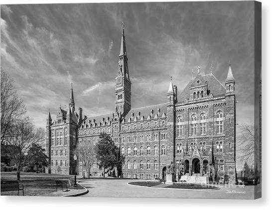 Degrees Canvas Print - Georgetown University Healy Hall by University Icons