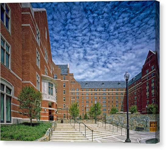 Big East Canvas Print - Georgetown University  by Mountain Dreams