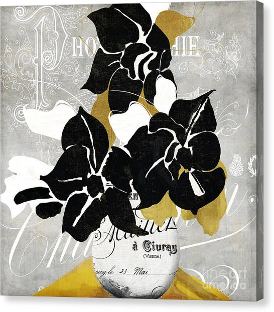 Amaryllis Canvas Print - Georgette II by Mindy Sommers