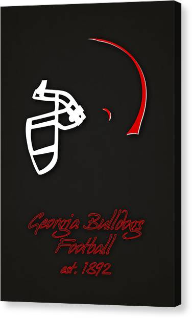 Georgia State University Canvas Print - Georgia Bulldogs Helmet 2 by Joe Hamilton