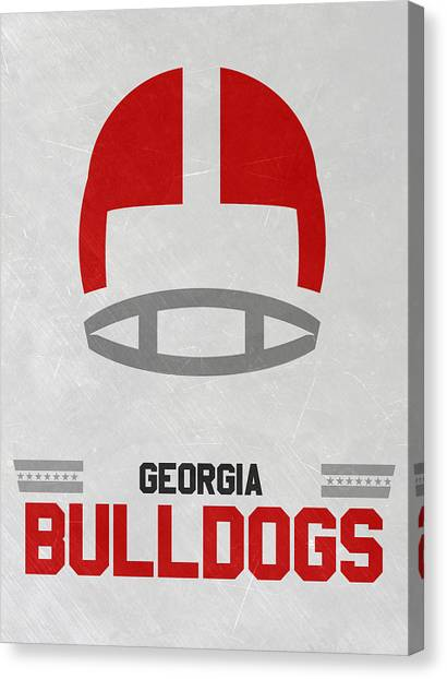 Georgia State University Canvas Print - Georgia Bulldogs Vintage Football Art by Joe Hamilton