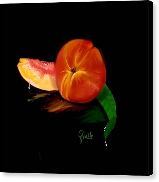 Georgia Peach Canvas Print