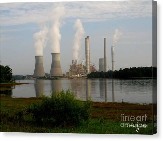Georgia Power Plant Canvas Print