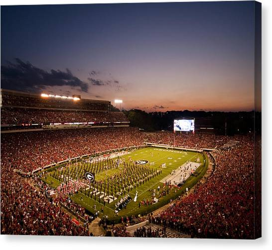 Sec Canvas Print - Georgia Sunset Over Sanford Stadium by Replay Photos