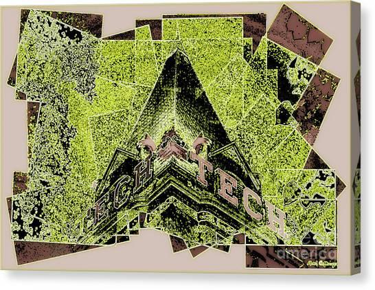 Georgia Institute Of Technology Georgia Tech Canvas Print - Georgia Tech Abstract 7 Georgia Institute Of Technology Atlanta Georgia Art by Reid Callaway