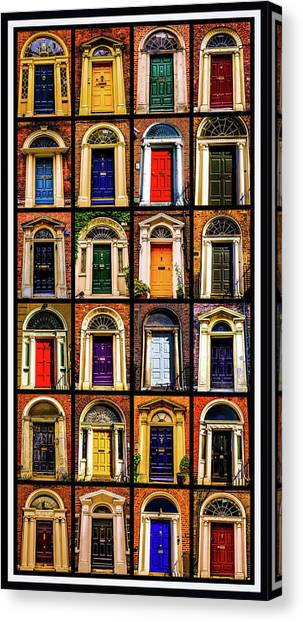 Georgian Doors Of Dublin 3 Canvas Print
