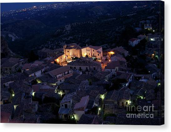 Italy, Calabria,gerace Canvas Print
