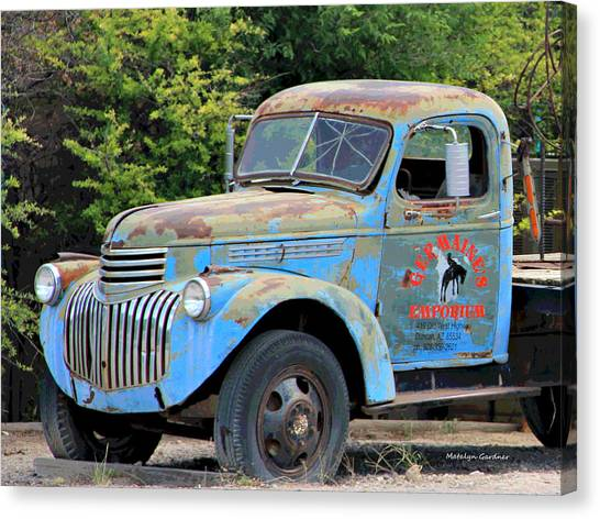 Geraine's Blue Truck Canvas Print