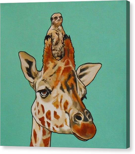 Gerald The Giraffe Canvas Print