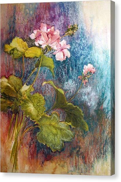Geraniums Canvas Print by Lois Mountz