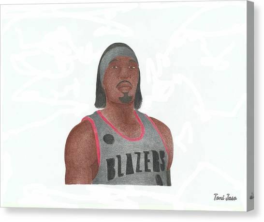 Portland Trail Blazers Canvas Print - Gerard Wallace by Toni Jaso