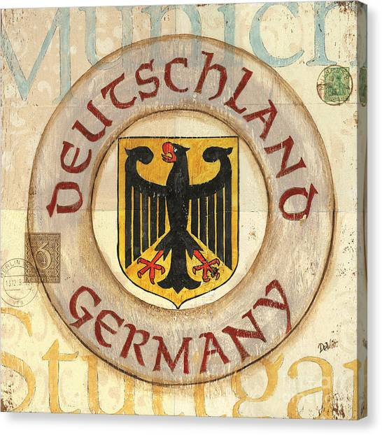 German Canvas Print - German Coat Of Arms by Debbie DeWitt