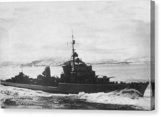 Battleship Canvas Print - German Navy by Maye Loeser