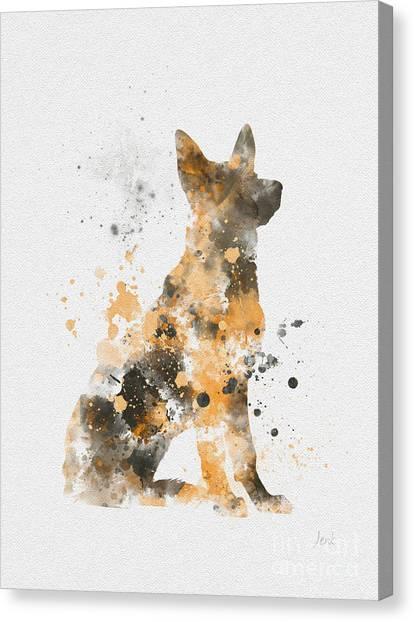 German Shepherd Canvas Print - German Shepherd by Rebecca Jenkins