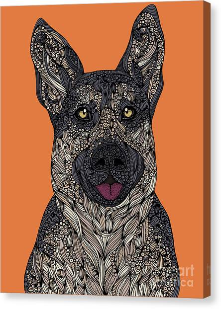 German Shepherds Canvas Print - German Shepherd by Valentina
