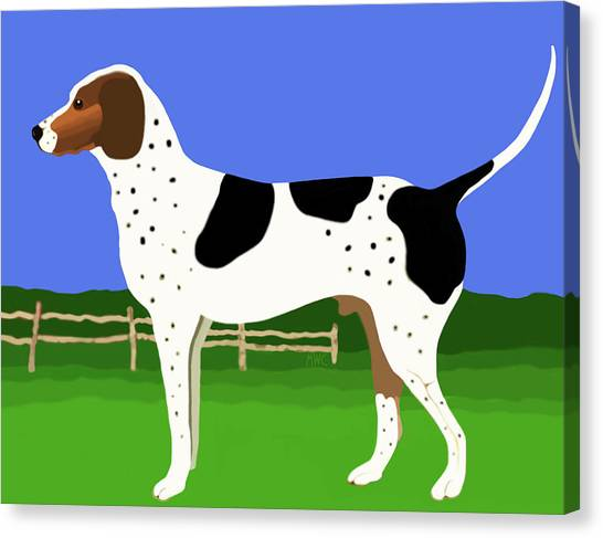 German Shorthaired Pointer In A Field Canvas Print
