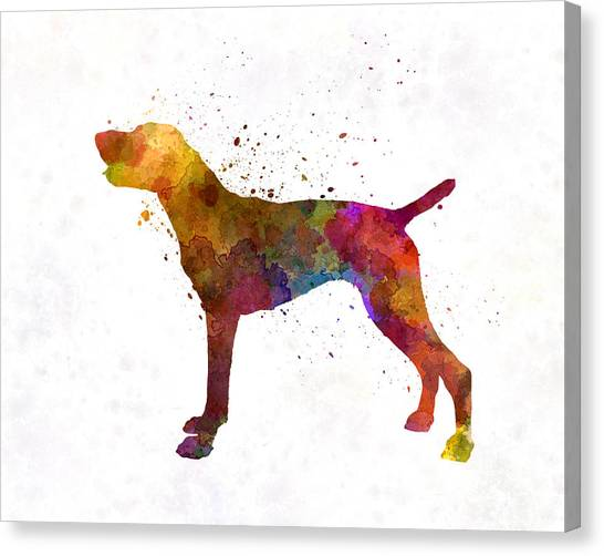 German Shorthair Pointer Canvas Print - German Shorthaired Pointer In Watercolor by Pablo Romero