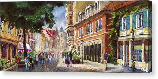 German Canvas Print - Germany Baden-baden Lange Str by Yuriy Shevchuk